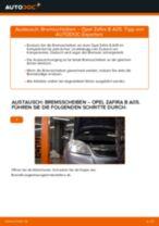 OPEL ZAFIRA B (A05) Bremsscheibe: Online-Handbuch zum Selbstwechsel