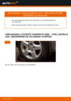 Hoe voorste onderste arm vervangen bij een Opel Zafira B A05 – vervangingshandleiding