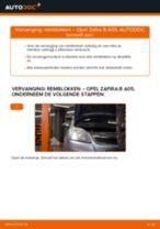 Hoe Stabilisator veranderen en installeren OPEL ZAFIRA: pdf handleiding