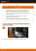 Cómo cambiar: discos de freno de la parte trasera - Opel Zafira B A05 | Guía de sustitución