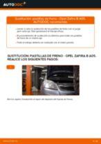 Cómo cambiar: pastillas de freno de la parte delantera - Opel Zafira B A05 | Guía de sustitución
