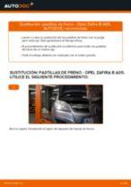 Cómo cambiar: pastillas de freno de la parte trasera - Opel Zafira B A05 | Guía de sustitución