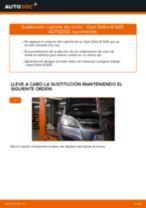 Cómo cambiar: cojinete de rueda de la parte trasera - Opel Zafira B A05 | Guía de sustitución