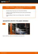 Byta hjullager bak på Opel Zafira B A05 – utbytesguide