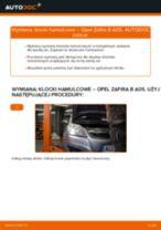 Jak wymienić klocki hamulcowe tył w Opel Zafira B A05 - poradnik naprawy
