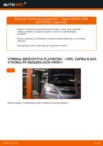 Návod na obsluhu OPEL ZAFIRA - Manuál PDF
