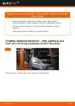 Jak vyměnit zadní brzdové destičky na Opel Zafira B A05 – návod k výměně