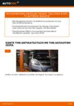 Πώς να αλλάξετε ρουλεμάν τροχού πίσω σε Opel Zafira B A05 - Οδηγίες αντικατάστασης