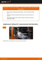 Kako zamenjati avtodel kolesni ležaji zadaj na avtu Opel Zafira B A05 – vodnik menjave