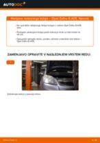 Kako zamenjati avtodel kolesni ležaji spredaj na avtu Opel Zafira B A05 – vodnik menjave