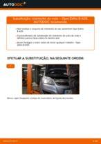 Como mudar rolamento da roda da parte traseira em Opel Zafira B A05 - guia de substituição