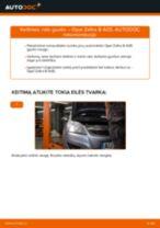 Kaip pakeisti ir sureguliuoti Rato guolis OPEL ZAFIRA: pdf pamokomis