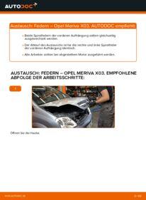 Wie der Wechsel durchführt wird: Federn 1.7 CDTI (E75) Opel Meriva A tauschen