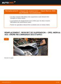 Comment effectuer un remplacement de Ressort d'Amortisseur sur 1.7 CDTI (E75) Opel Meriva A
