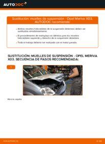 Cómo realizar una sustitución de Muelles de Suspensión en un OPEL MERIVA