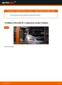 Jak provést výměnu: Klinovy zebrovany remen na 1.9 CDTI (M75) Opel Zafira B