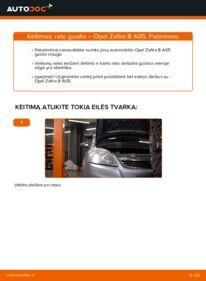 Kaip atlikti keitimą: 1.9 CDTI (M75) Opel Zafira B Rato guolis