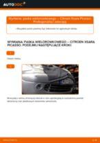 Darmowe instrukcje online jak odnowić Pas wielorowkowy CITROËN XSARA PICASSO (N68)