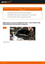 Menjava: olja in oljnega filtra >> Fiat Punto 199 | Priročnik