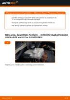 Zamenjavo Zavorne Ploščice: pdf navodila za CITROËN XSARA