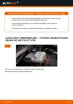 PDF Wechsel Anleitung: Bremsklötze CITROËN XSARA PICASSO (N68) hinten + vorne