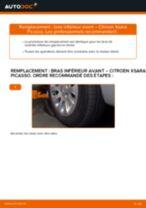 Comment changer : bras inférieur avant sur Citroen Xsara Picasso - Guide de remplacement