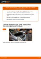 Byta bromsskivor bak på Opel Meriva X03 – utbytesguide