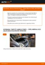 Jak wymienić tarcze hamulcowe tył w Opel Meriva X03 - poradnik naprawy