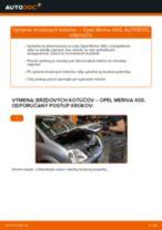 Ako vymeniť a regulovať Brzdový kotouč OPEL MERIVA: sprievodca pdf