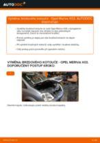 Jak vyměnit zadní brzdové kotouče na Opel Meriva X03 – návod k výměně