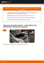 Kako zamenjati avtodel zavorni diski zadaj na avtu Opel Meriva X03 – vodnik menjave