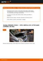 Tiešsaistes rokasgrāmata, kā pašam mainīt Bremžu diski uz OPEL MERIVA