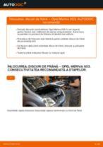 Cum să schimbați: discuri de frână din spate la Opel Meriva X03 | Ghid de înlocuire