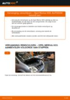 PDF handleiding voor vervanging: Schijfremmen OPEL Meriva A (X03) achter en vóór