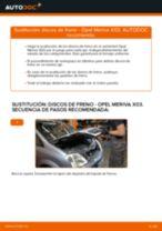Cómo cambiar: discos de freno de la parte trasera - Opel Meriva X03 | Guía de sustitución