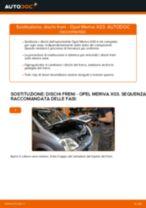 Come cambiare dischi freno della parte posteriore su Opel Meriva X03 - Guida alla sostituzione