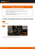 Kuinka vaihtaa pyöränlaakerit taakse Opel Meriva X03-autoon – vaihto-ohje