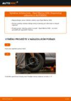 Jak vyměnit zadní ložisko kola na Opel Meriva X03 – návod k výměně