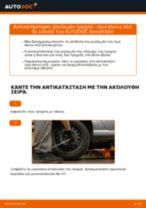 Πώς να αλλάξετε ρουλεμάν τροχού πίσω σε Opel Meriva X03 - Οδηγίες αντικατάστασης