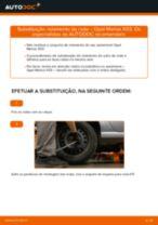 Como mudar rolamento da roda da parte traseira em Opel Meriva X03 - guia de substituição