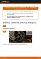 Kuidas vahetada Opel Meriva X03 taga-rattalaagri – õpetus