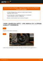 Hátsó lengéscsillapító-csere Opel Meriva X03 gépkocsin – Útmutató