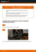 Radlager hinten selber wechseln: Opel Meriva X03 - Austauschanleitung