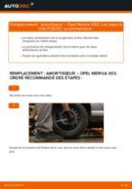 Comment changer : amortisseur arrière sur Opel Meriva X03 - Guide de remplacement