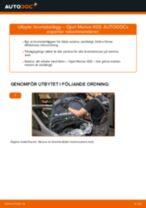 Byta Bromsbelägg fram och bak OPEL MERIVA: guide pdf