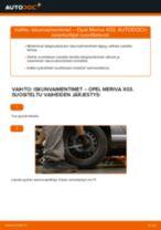 Kuinka vaihtaa iskunvaimentimet taakse Opel Meriva X03-autoon – vaihto-ohje