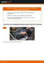 Kuinka vaihtaa jarrupalat taakse Opel Meriva X03-autoon – vaihto-ohje