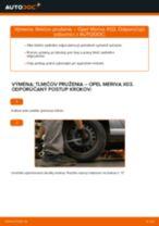 Ako vymeniť zadné tlmiče pruženia na Opel Meriva X03 – návod na výmenu