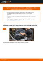 Ako vymeniť zadné brzdové platničky na Opel Meriva X03 – návod na výmenu