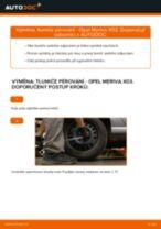 Jak vyměnit zadní tlumiče pérování na Opel Meriva X03 – návod k výměně